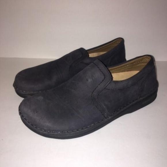 Birkenstock Women's 39 8 Shoes Loafers Blue Suede
